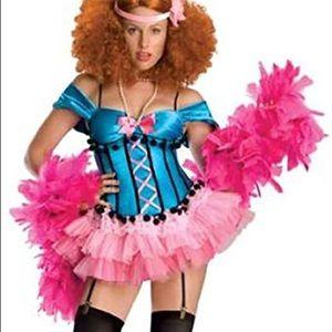 Halloween Costume Burlesque Showgirl Doll XS